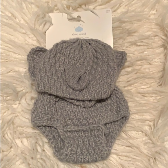 Amazon.com: Crochet Baby Elephant Hat and Diaper Cover Set - Baby ... | 580x580